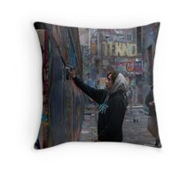 Graffiti Artist - Rutledge Lane Melbourne Throw Pillow