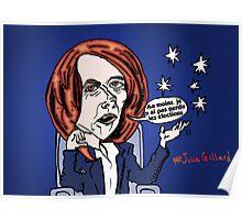 L'ancien Premier ministre australien Julia GILLARD caricature Poster