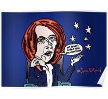 Former Australian PM Julia Gillard editorial cartoon Poster