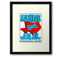 Miscarriage Does Not Equal Jail - Texas Framed Print