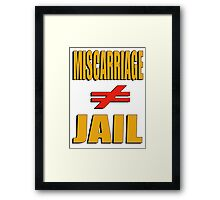 Miscarriage Does Not Equal Jail 2 Framed Print