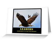 Leaders Motivation Greeting Card