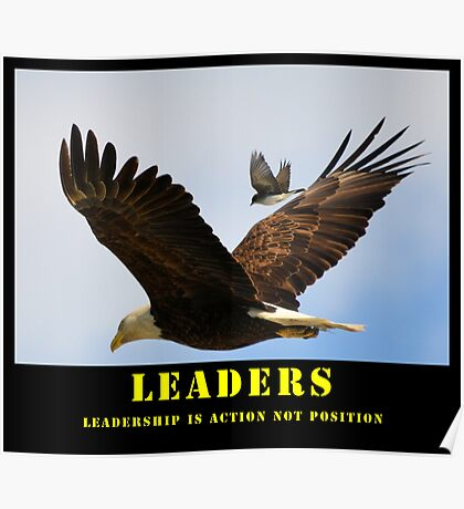 Leaders Motivation Poster