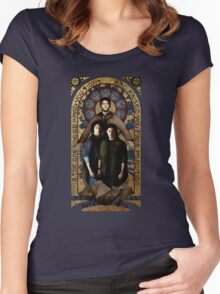 SUPERNATURAL gold medieval icon Women's Fitted Scoop T-Shirt