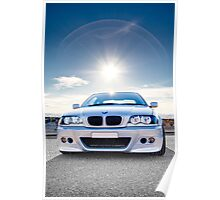 BMW E46 3 Series Portrait Poster
