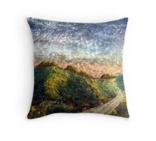 Road Through The Valley Throw Pillow
