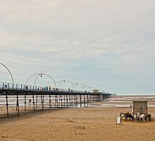 Southport Pier Scene by DavidWHughes