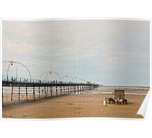 Southport Pier Scene Poster