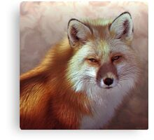 Fox Portrait Painting Max size 14x14 Canvas Print