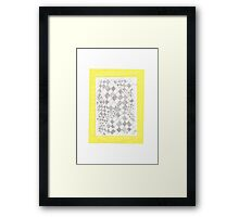 0808 - Yellow White Bright and Dark Fields Framed Print