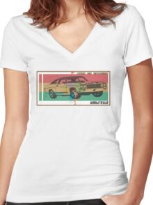 made in jamaica Women's Fitted V-Neck T-Shirt