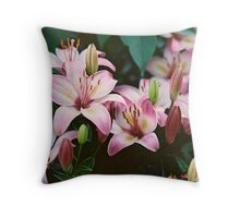 Path-Side Stars Throw Pillow