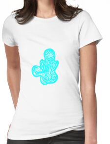 Lady bug - Blue Womens Fitted T-Shirt