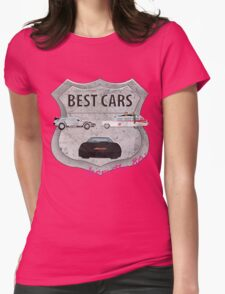 Best cars form the 80's Womens Fitted T-Shirt