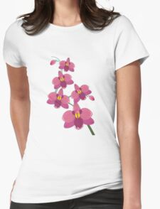 Pink orchids T-shirt vector design Womens Fitted T-Shirt