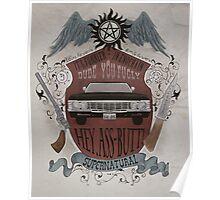 Supernatural retro crest Poster