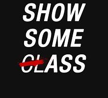 SHOW SOME CLASS ASS BLACK TYPOGRAPHY SHIRT Mens V-Neck T-Shirt