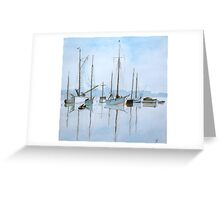 Early Morning Newhaven, (after Roland Hilder)  by John Rees Greeting Card