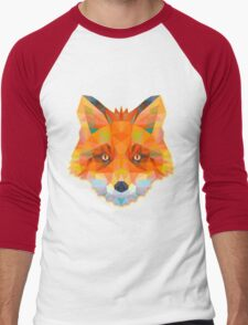 Fox Animals Gift Men's Baseball ¾ T-Shirt