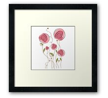 delicate floral background in vector format Framed Print