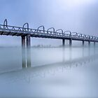 Bridge Under Fog III - Murray Bridge, South Australia by Mark Richards