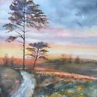 Sunset   by Mary Faux Jackson by HurstPainters