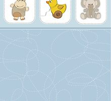 cute baby boy shower card by Balasoiu Claudia