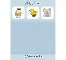 cute baby boy shower card Photographic Print