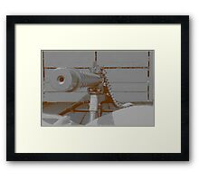 down the barrel of a gun Framed Print