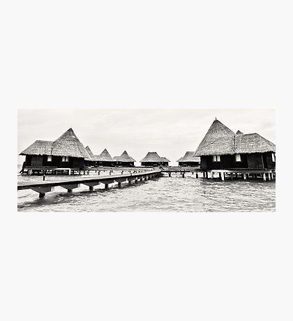 Dhuni Kolhu: A Village Above the Water Photographic Print