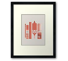 School House Monotone Framed Print