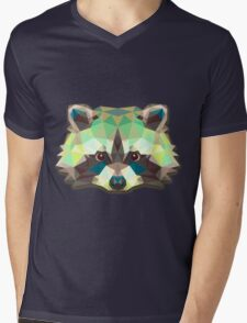 Raccoon Animals Gift Mens V-Neck T-Shirt