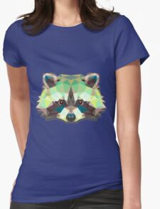 Raccoon Animals Gift Womens Fitted T-Shirt