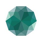 Geometric Blue Diamond by indurdesign
