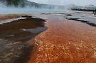 Runoff from the Grand Prismatic Spring ~ Yellowstone National Park by Jan  Tribe