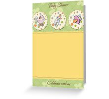 cute baby girl shower card Greeting Card