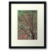 And the tree was happy Framed Print