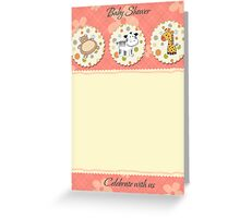 cute baby shower card Greeting Card