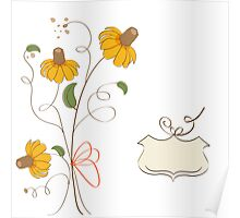 romantic flowers background Poster