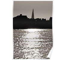 The Shard from Canary Wharf Poster