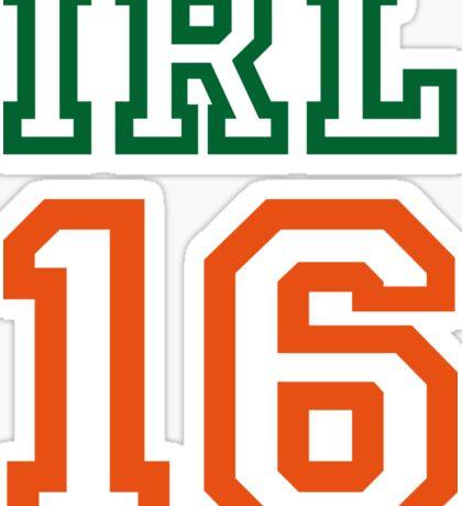 IRELAND 16 Sticker