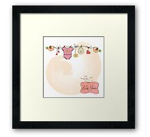 baby girl shower card Framed Print