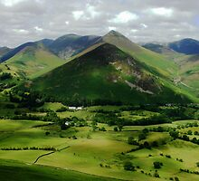 Newlands Valley and Causey Pike, Lake District, England. by Neil MacNeill