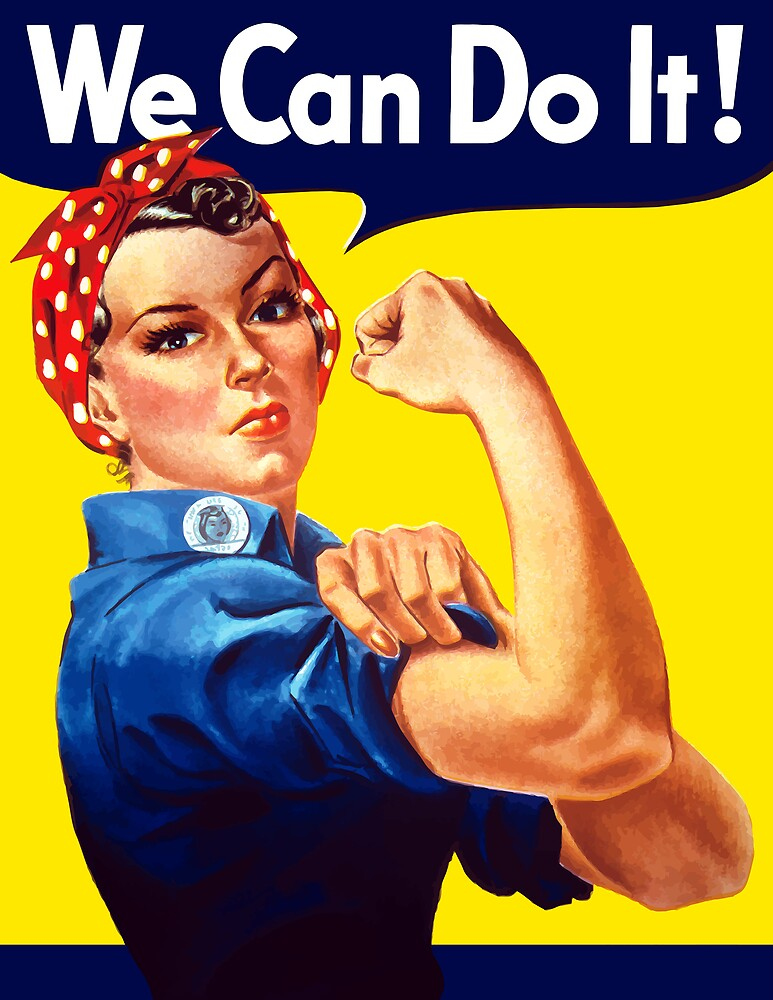 Rosie The Riveter We Can Do It by warishellstore