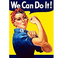 Rosie The Riveter We Can Do It Photographic Print