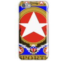 USA Sports Blue template iPhone Case/Skin
