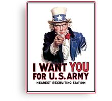 """Uncle Sam """"I Want You""""  Canvas Print"""