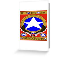 USA Sports Red template Greeting Card