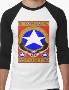 USA Sports Red template Men's Baseball ¾ T-Shirt