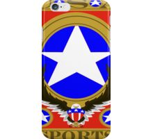 USA Sports Red template iPhone Case/Skin